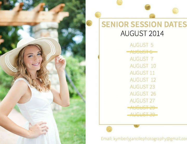 Kansas City High School Senior Photographer | August 2014 Dates